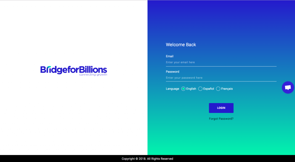 Bridge for Billions, pantalla de inicio